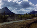 Alcan Highway Stretching from Dawson Creek, British Columbia, Canada to Fairbanks, Alaska, USA Premium Photographic Print by J. R. Eyerman