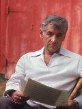 Composer/Conductor Leonard Bernstein Premium Photographic Print by Alfred Eisenstaedt