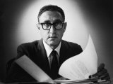 Presidential Adviser Henry Kissinger at Harvard Premium Photographic Print by Alfred Eisenstaedt
