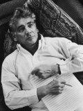 Portrait of Composer/Conductor Leonard Bernstein Premium Photographic Print by Alfred Eisenstaedt