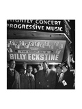 Singer Billy Eckstine Posing with His Touring Entourage Premium Photographic Print by Martha Holmes