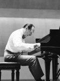 Pianist Vladimir Horowitz Rehearsing Before a Concert Premium Photographic Print by Alfred Eisenstaedt