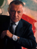 President of Fiat Gianni Agnelli Reproduction photographique sur papier de qualit&#233; par David Lees
