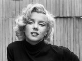Actress Marilyn Monroe at Home Kunst på metal af Alfred Eisenstaedt