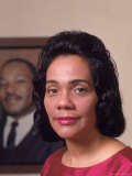 Coretta Scott King, Widow of Civil Rights Leader Martin Luther King, Jr Premium Photographic Print by Vernon Merritt III