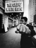 "Heavyweight Boxer Muhammad Ali Outside the Alvin Theater Where ""The Great White Hope"" is Playing Premium Photographic Print by Bob Gomel"