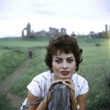 Portrait of Actress Sophia Loren Premium Photographic Print by Loomis Dean