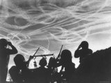 Alerted GIs of M 51 Anti Aircraft Battery Silhouetted Against German Premium Photographic Print by M.s. Kelly