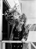 Rock Star Ozzy Osbourne Pouring Water over His Head After Performance at the Live Aid Concert Premium Photographic Print by David Mcgough