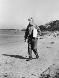 Thomas Hart Benton Walking Along the Beach on Martha's Vineyard Premium Photographic Print by Alfred Eisenstaedt