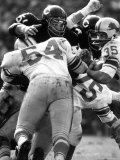 Football: Chicago Bears Dick Butkus No.51 in Action Vs Detroit Lions Premium Photographic Print by Bill Eppridge