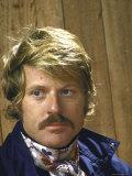 Portrait of Moustachioed Actor Robert Redford Premium Photographic Print by John Dominis
