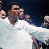 Heavyweight Boxer Cassius Clay, aka Muhammad Ali, After His Fight with Sonny Liston Premium Photographic Print by John Dominis