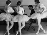 Ballerinas at George Balanchine's American School of Ballet Gathered During Rehearsal Premium Photographic Print by Alfred Eisenstaedt