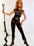 Jane Fonda, Wearing Space Age Costume in Publicity Still from Roger Vadim&#39;s Film &quot;Barbarella&quot; Premium Photographic Print by Carlo Bavagnoli