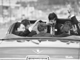 Photographer Taking Photo of Robert F. Kennedy on His Campaign Trail Premium Photographic Print by Bill Eppridge