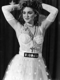 Madonna at 1st Annual MTV Video Music Awards, at Tavern on the Green Metal Print by David Mcgough