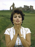 Actress Sophia Loren Premium Photographic Print by Loomis Dean
