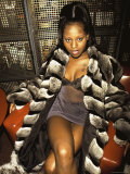 Rap Artist Foxy Brown Premium Photographic Print by Dave Allocca