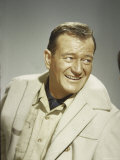 "Portrait of Actor John Wayne at Time of Making Movie ""Legends of the Lost"" Premium Photographic Print by Loomis Dean"