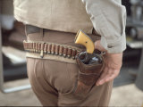 "Gun and Holster Belonging to Actor John Wayne During Filming of Western Movie ""The Undefeated"" Fotoprint av John Dominis"