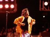 Singer Mick Jagger Performing Premium Photographic Print by David Mcgough