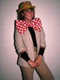 Actress Linda Blair, Wearing over Sized Bow Tie Premium Photographic Print by Ann Clifford