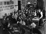 "African Americans Attending Community House Forum Regarding Rally ""Beat Hitler and Jim Crow"" Premium Photographic Print by Gordon Coster"