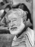 Author Ernest Hemingway Covering Bullfight Rivalry of Spanish Matadors Ordonez and Dominguin Premium Photographic Print by Loomis Dean
