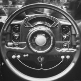 Interior Steering Panel and Steering Wheel of Italian Isotta Fraschini Being Shown at the Auto Show Photographic Print by Tony Linck