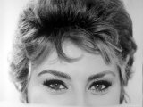 Close Up of the Eyes of Actress Sophia Loren Premium Photographic Print by Alfred Eisenstaedt