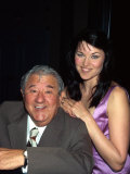 Comedian Buddy Hackett and Actress Lucy Lawless Premium Photographic Print by Dave Allocca
