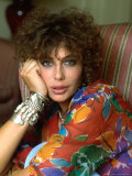 Actress Kelly LeBrock Premium-Fotodruck von David Mcgough - david-mcgough-actress-kelly-lebrock