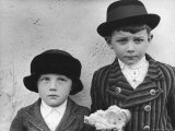 Czech Peasant Boys Dressed in Their Best Sunday Clothes Premium Photographic Print by Margaret Bourke-White
