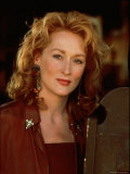 "Actress Meryl Streep at Film Premiere of Her ""Death Becomes Her"" Premium Photographic Print by David Mcgough"