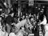 "Man on horse In Bar During Reenactment of Killing in James Butler ""Wild Bill"" Hickok by Jack McCall Premium Photographic Print by Alfred Eisenstaedt"