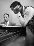 "Singer Billy Eckstine with Pianist Bobby Tucker, Singing ""Caravan"" Premium Photographic Print by Martha Holmes"