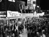 Crowds Gathering Outside the Steel Pier in Resort and Convention City Premium Photographic Print by Alfred Eisenstaedt