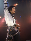 Pop Entertainer Michael Jackson Striking a Pose at Event Premium Photographic Print by David Mcgough