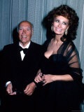 Producer Carlo Ponti and Wife, Actress Sophia Loren Premium Photographic Print by Ann Clifford