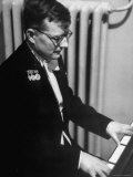 Composer Dmitri Shostakovich Playing Piano Premium Photographic Print by Thomas D. Mcavoy