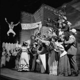 "Actors Performing in the Musical Play ""St. Louis Woman"" Premium Photographic Print by Al Fenn"