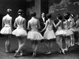 "Corps de Ballet Listening to Ballet Master During Rehearsal of ""Swan Lake"" at Paris Opera Photographic Print by Alfred Eisenstaedt"