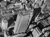 Aerial View Looking Down on 6th Ave. and 50th St. at Towering Rockefeller Center Complex Premium Photographic Print by Margaret Bourke-White