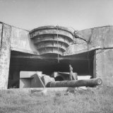 German Guns Shelled Dover Near Cap Gris Nez Resting in Emplacement on German W. Wall Fortifications Photographic Print by Eliot Elisofon