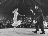 Professional Cuban Dance Team Known as Pete and Millie Showing Off the Mambo Premium Photographic Print by Yale Joel