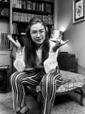 Future First Lady and Senator Hillary Rodham While at Wellesley College Premium Photographic Print by Lee Balterman