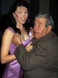 Actress Lucy Lawless and Comedian Buddy Hackett Premium Photographic Print by Dave Allocca
