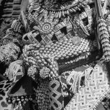 Bope Mabinshe, King of Bakuba Tribe, Dressed in Embroidered Tribal Costume During Coronation Photographic Print by Eliot Elisofon