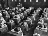 Elementary School Children with Heads Down on Desk During Rest Period in Classroom Premium Photographic Print by Alfred Eisenstaedt